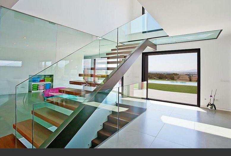 treppe in minimalistischem stil bilder, neubauvilla in minimalistischen stil in palmanähe: venus architecture, Design ideen